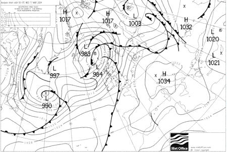 00:00 GMT 06:00 GMT 12:00 GMT 18:00 GMT Figure 1 The large, slow-moving anticyclone which covered central and southern