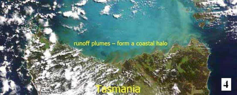 Through Google Earth it is nowadays possible to pin point a variety of local ocean discolorations that will stimulate research to
