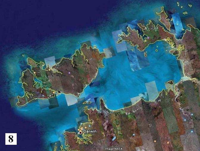 There are many other examples of milky to turquoise discolorations both in Google Earth and other Internet sources which could