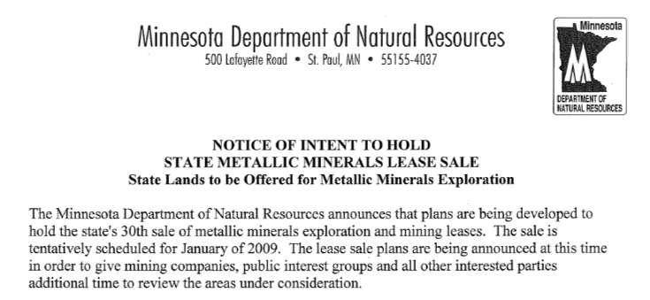State Metallic Minerals Lease