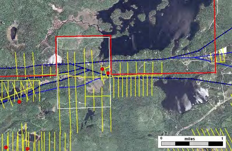 Foss Lake Prospect Exploratory Bore Hole Geophysical Grid 2009 Lease Sale Prospect Boundary Faults and Shears