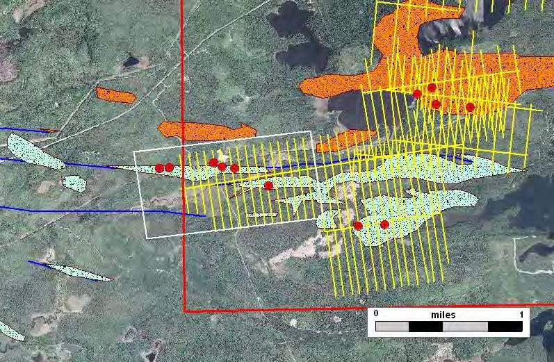Murray Shear Prospect Exploratory Bore Hole Geophysical Grid 2009 Lease Sale Prospect Boundary Alteration Lode gold Style