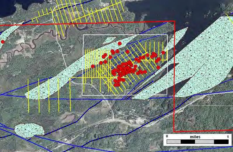 Raspberry Prospect Exploratory Bore Hole Geophysical Grid 2009 Lease Sale Prospect Boundary Alteration Lode gold Style