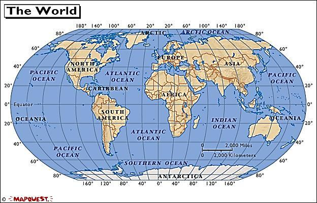 The polar projection of Antarctica is more accurate in shape and size than the equatorial projection of the world map.