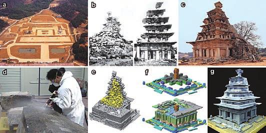 Stone Heritage of East and Southeast Asia statue is exposed to the external environment with no protecting structure (Lee et al., 2014). 3.