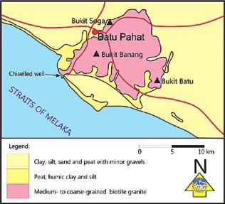 Malaysia was originated from a well chiselled on the grey medium- to coarse-grained biotite granite (Figure 23).