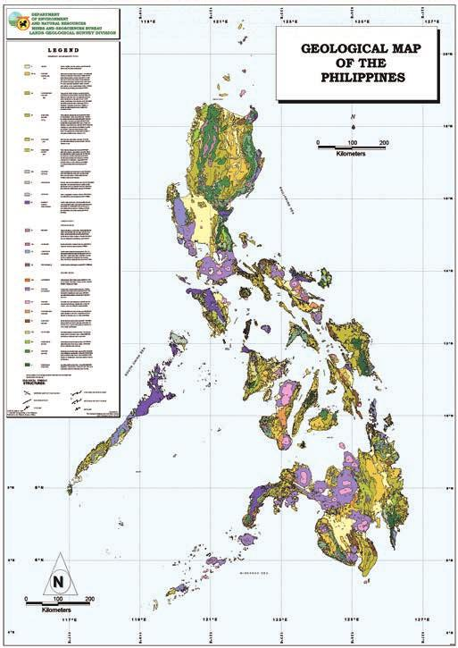 Stone Heritage of East and Southeast Asia Figure 3. Geological map of the Philippines (Philippines Bureau of Mines, 1963).
