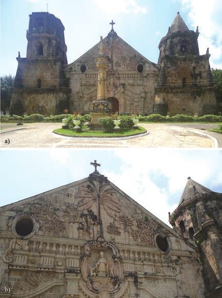 Chapter 7. Stone Heritage of the Philippines The church of Santa Monica in Dingle, about 40 km northeast of Iloilo City, was started in 1829 and is built of yellow sandstone (Layug, 2007).