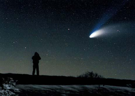 Comets Ancient Ideas about comets kometes = `the hairy one (hairy star) 550 BC Pythagoreans thought they were wandering