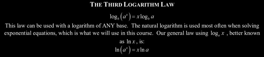 19 LESSON #9 - SOLVING EXPONENTIAL EQUATIONS USING LOGARITHMS COMMON CORE ALGEBRA II Eercise #1: Evaluate the following logarithms.