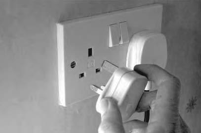 4 Using mains electricity can be dangerous. (a) Suggest two safety precautions you should take when putting a plug into a mains socket. (2) 1... 2.