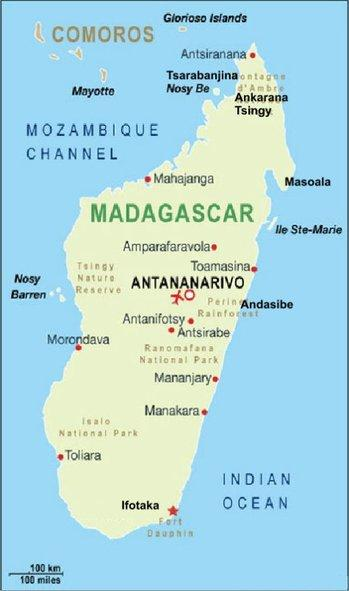 10 Figure 1: Map of Madagascar, Ifotoka is located