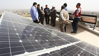 cells, this study has focused only on fixed angle solar cells of 45o to make the most of solar radiation throughout the year, so to take advantage of daily solar radiation in Gaza.