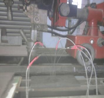 Effect Of Cooling Rate On Microstructure Of Saw Welded Mild Steel Fig: 4 welding setup, base plate and position of thermocouple With the help of thermocouple and digital meter the temperature during
