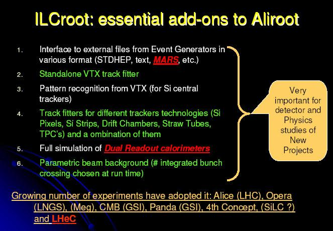 ILCroot status and