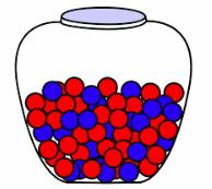 36 A jar contains 183 of black, blue and yellow marbles. There are 70 black marbles. If a marble is picked at random from the jar, the probability of picking a blue marbles is 1 3.