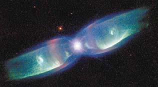 Earlier theories thought the star blew up once but some nebulas show 2 rings How can there be 2