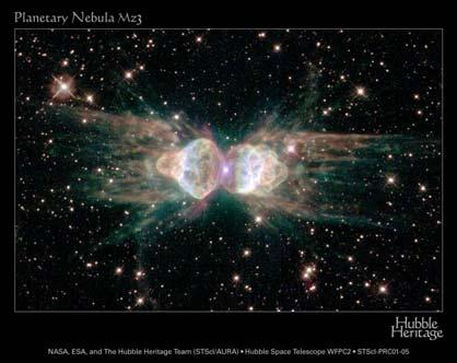 Bipolar Planetary Nebula 27 28 One of the stars is pulling matter off its partner and spinning it
