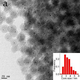 Fig.S11 TEM images of single-core Au@SiO 2 nanoparticles: (a)