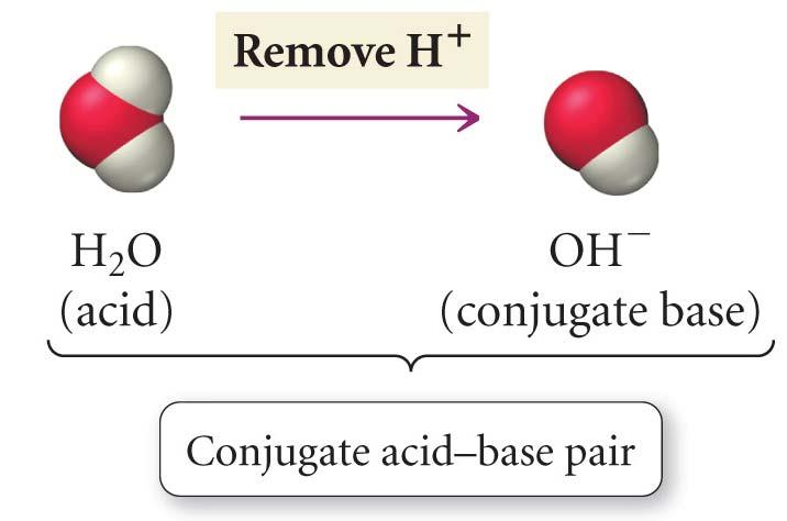 Conjugate Pairs In the reaction H 2 O + NH 3 HO + NH 4 + H 2 O and HO constitute an Acid/Conjugate
