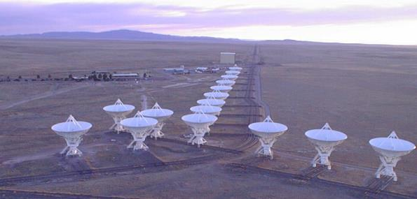 Parabolic dish of a radio telescope acts as a mirror, reflecting radio waves to the focus.