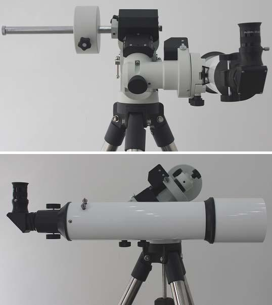 the scope with accessories back and forth (see photos below). Only balance one axis at a time and start with the DEC axis first.