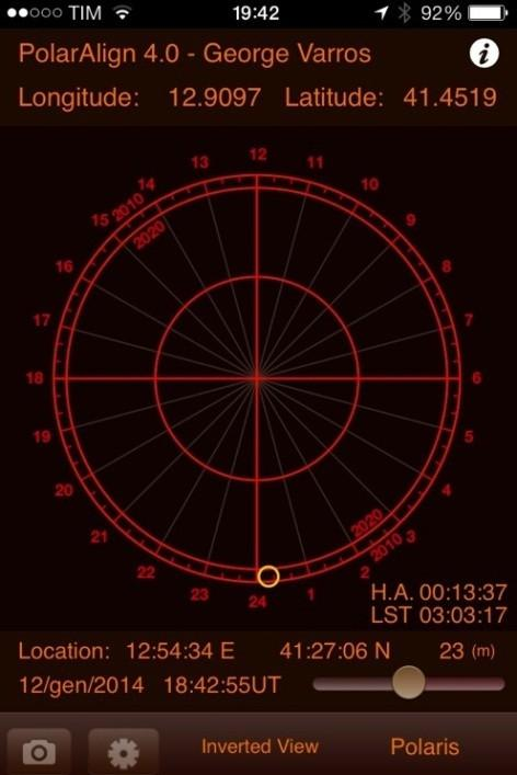 3.3 Polar Alignment with the Losmandy polar scope The Losmandy polar scope allows a more precise alignment because it is based upon the coincidence of three stars (Polaris, UMi e OV Cep) position