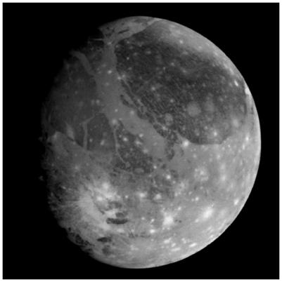 Galileo Regio Prominent characteristics Callisto is the darkest Galilean satellite Even so, it is about twice as reflective