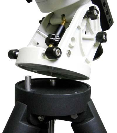 Place the mount onto the Tripod Head with the Bubble Level Indicator on top of the Alignment Peg as shown in Figure 10.