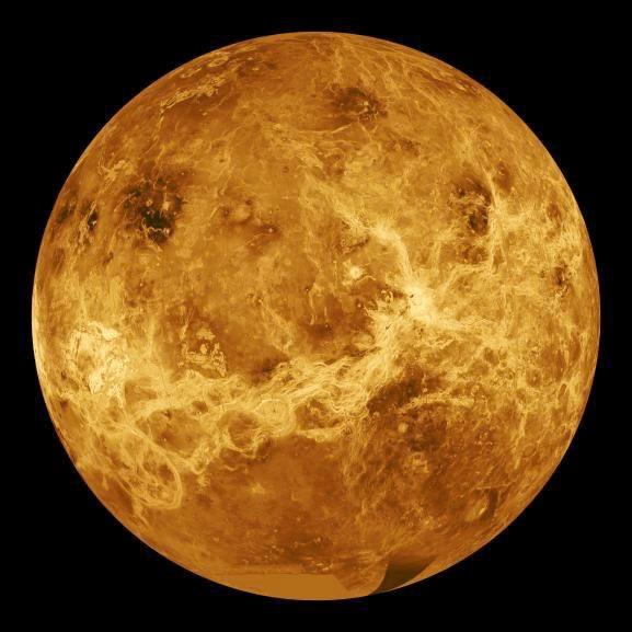 ! Venus has about 1,000 craters! No trace of heavy bombardment Impacts on Venus!