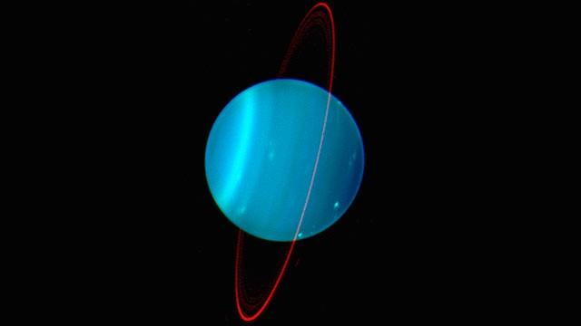 Uranus Uranus discovered accidentally in 1781 few clouds; no distinct belts or zones has blue velvety appearance b/c of methane gas; also contains H & He small, solid core creating strong magnetic