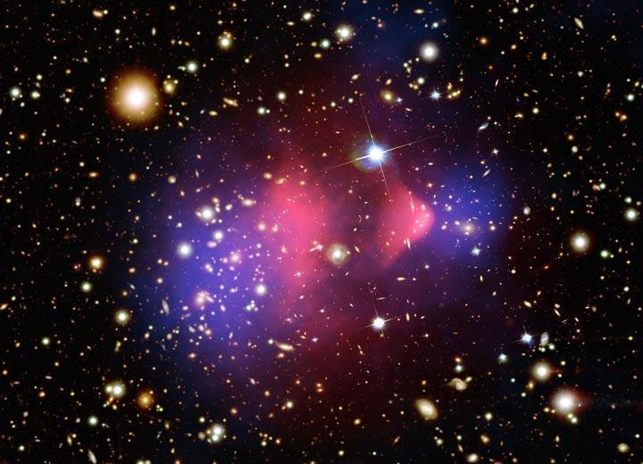 Bullet Cluster Galaxy Cluster Merger Think Google and Apple Merged!