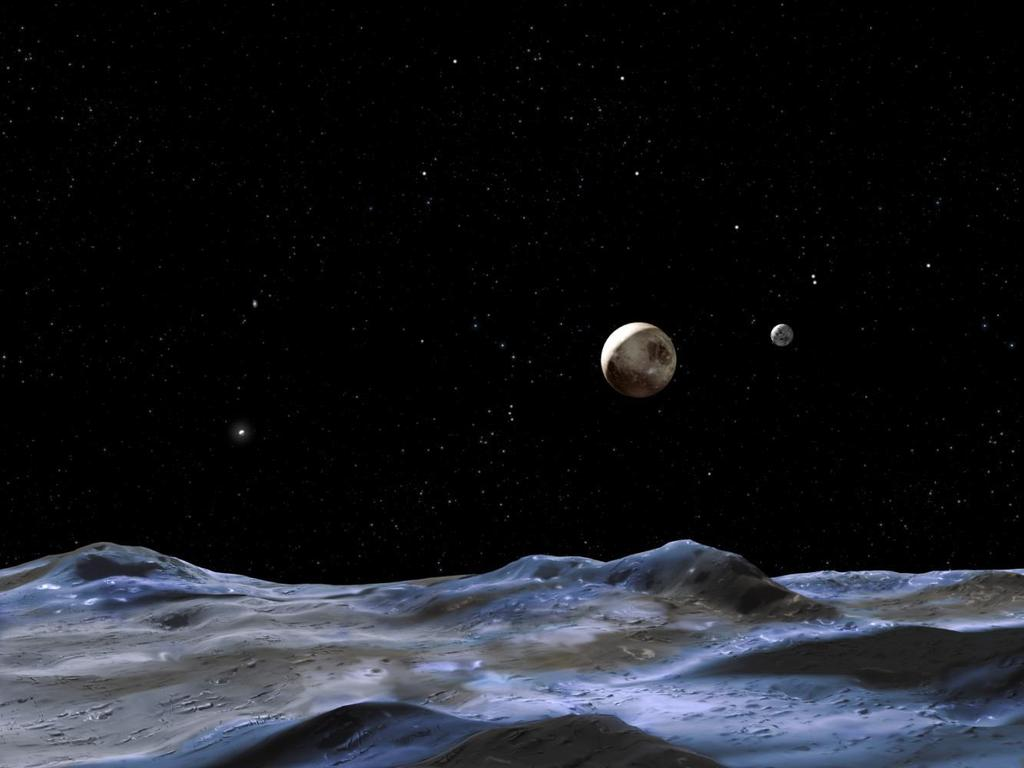 The discovery of four small moons of Pluto with the Hubble Space Telescope Max Mutchler Research & Instrument Scientist Space