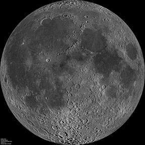 Figure 7. Near (left) and Far (right) side of Moon.