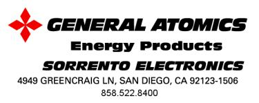 GENERAL ATOMICS ENERGY PRODUCTS Engineering Bulletin 96-004 THE EFFECT