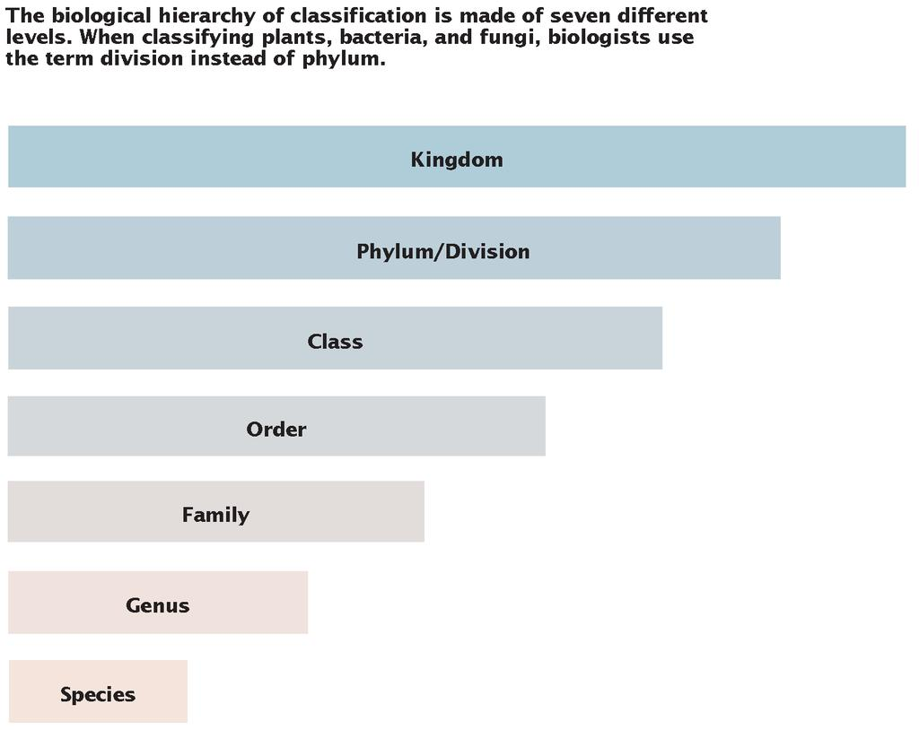 Section 1 Categories of Biological