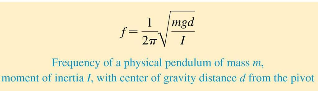 Physical Pendulums and Locomotives The moment of inertia I is a measure of an object s resistance to rotation.