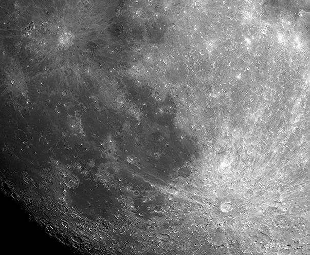 Craters Copernicus and Tycho Moon is covered by