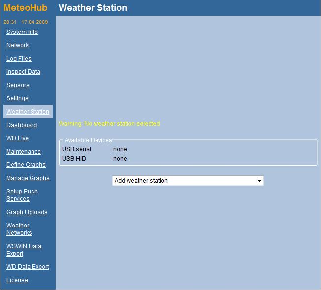 Name: Enter any name for your weather station (optional). This is helpful if you have more than one weather station.