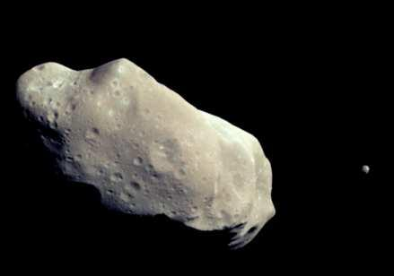 5 km in diameter Ida is 56 km long 22 Several small bodies (asteroids,