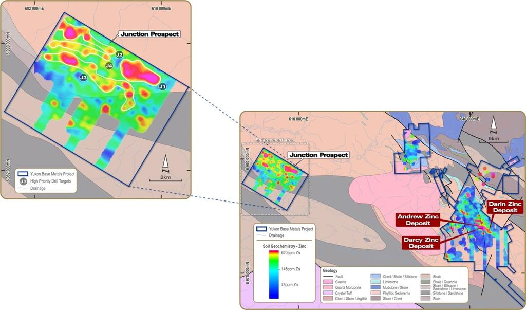 THE YUKON BASE METAL PROJECT The Yukon Base Metal Project in Canada provides Overland considerable exposure to a rising zinc price and mid-term production potential.