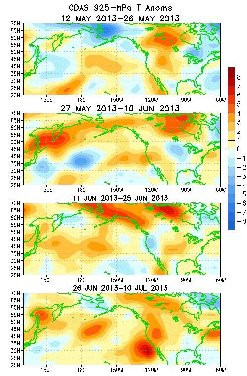 Atmospheric Circulation over the North Pacific & North America During the Last 60 Days 200-hPa Wind
