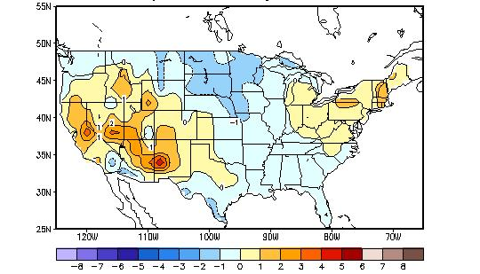 U.S. Temperature and Precipitation Departures During the