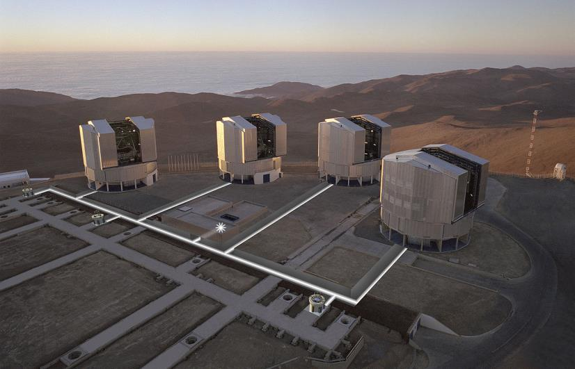 VERY LARGE TELESCOPE Located in the desert of northern Chile Operated by European Southern Observatory Four individual