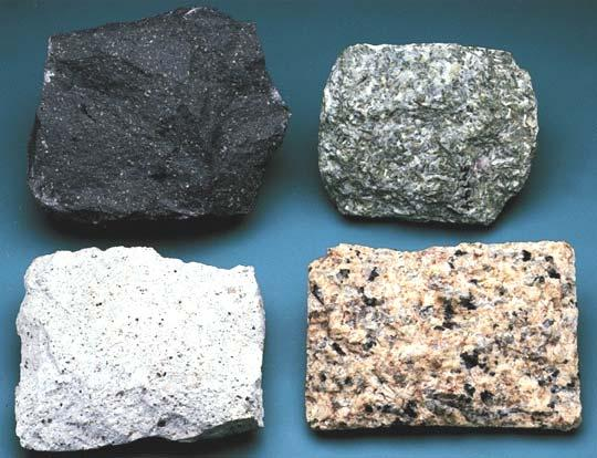 Classification by composition and texture Extrusive basalt andesite rhyolite