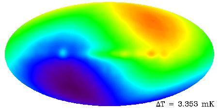 Too dilute for cooking... So can the (imaginary) celestial sphere: (visible light) Mapping the CMB (color = temperature) hotter T = 2.