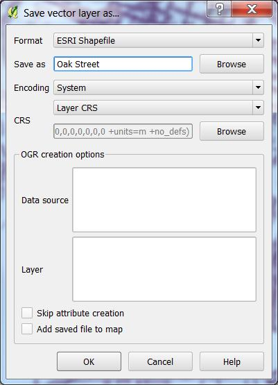3. Name for Save vector layer as GUI or choose Browse o Add saved file to map OK 4.