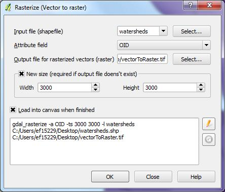 Convert Vector to Raster 1) Select Raster from dropdown toolbar 2)