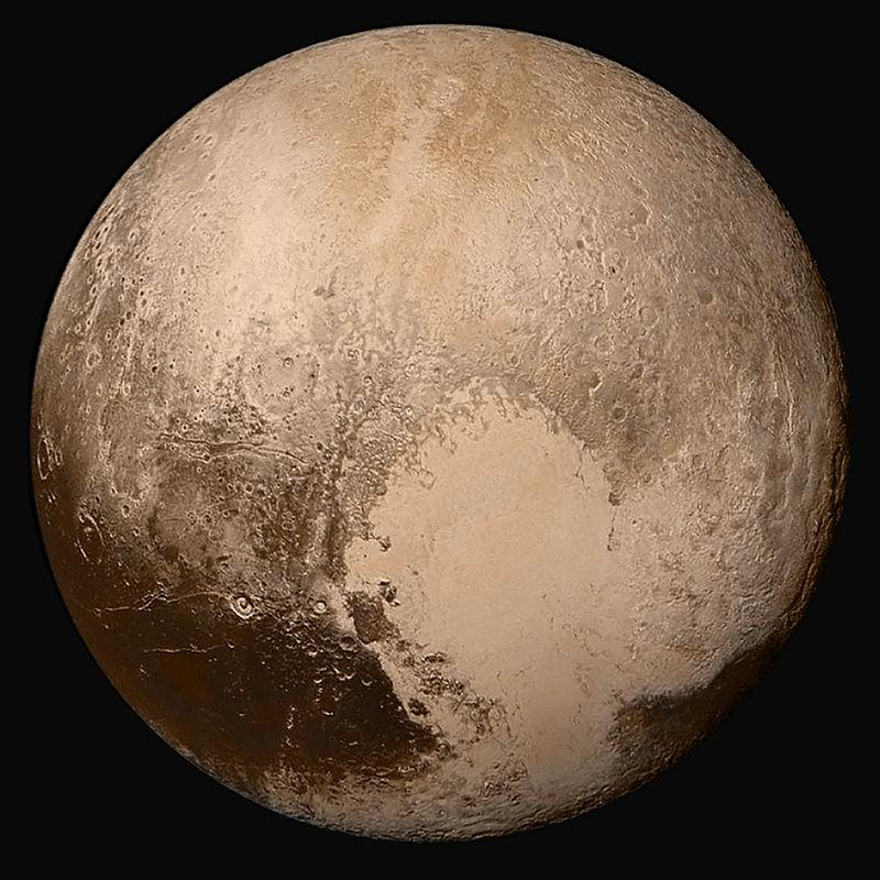 Full-disc view of Pluto in near-true colour, pictured by New Horizons Pluto: Dwarf Planet Contributors: Lydia