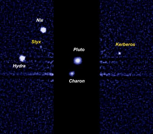 Pluto s Moons Pluto has 5 moons Charon was the first discovered moon of Pluto found by Clyde Tombaugh The other four were recently discovered, most